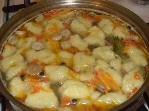 Суп з галушками рецепт с фото пошагово